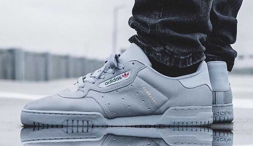 69350ab7eeb It s time to take a closer look at the Yeezy Powerphase Calabasas Grey is  coming this December in a full Winter holiday attire! The soft and serene  vibe of ...
