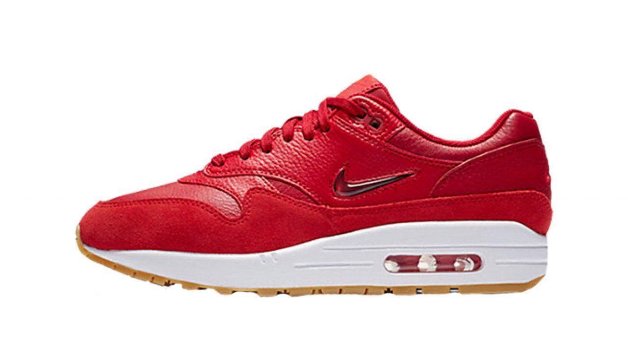 Nike Women's Air Max 1 Premium SC Jewel RedWhite AA0512 602