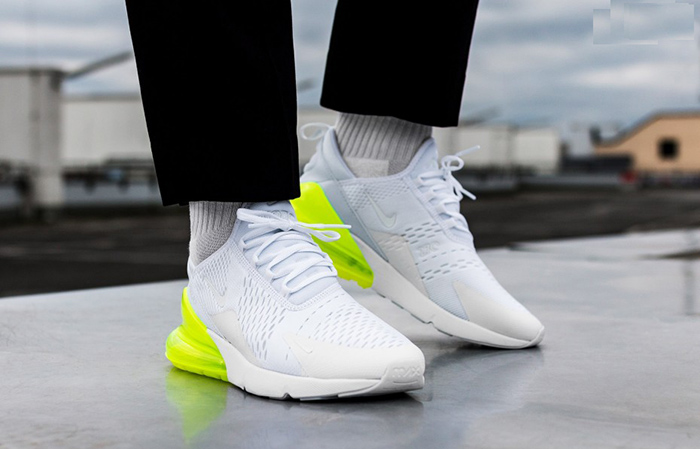 newest bbb83 bc61d Nike Air Max 270 White Volt AH8050-104