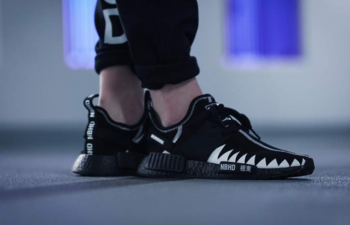 check out cff86 e85d7 Neighborhood x adidas NMD R1 Black DA8835