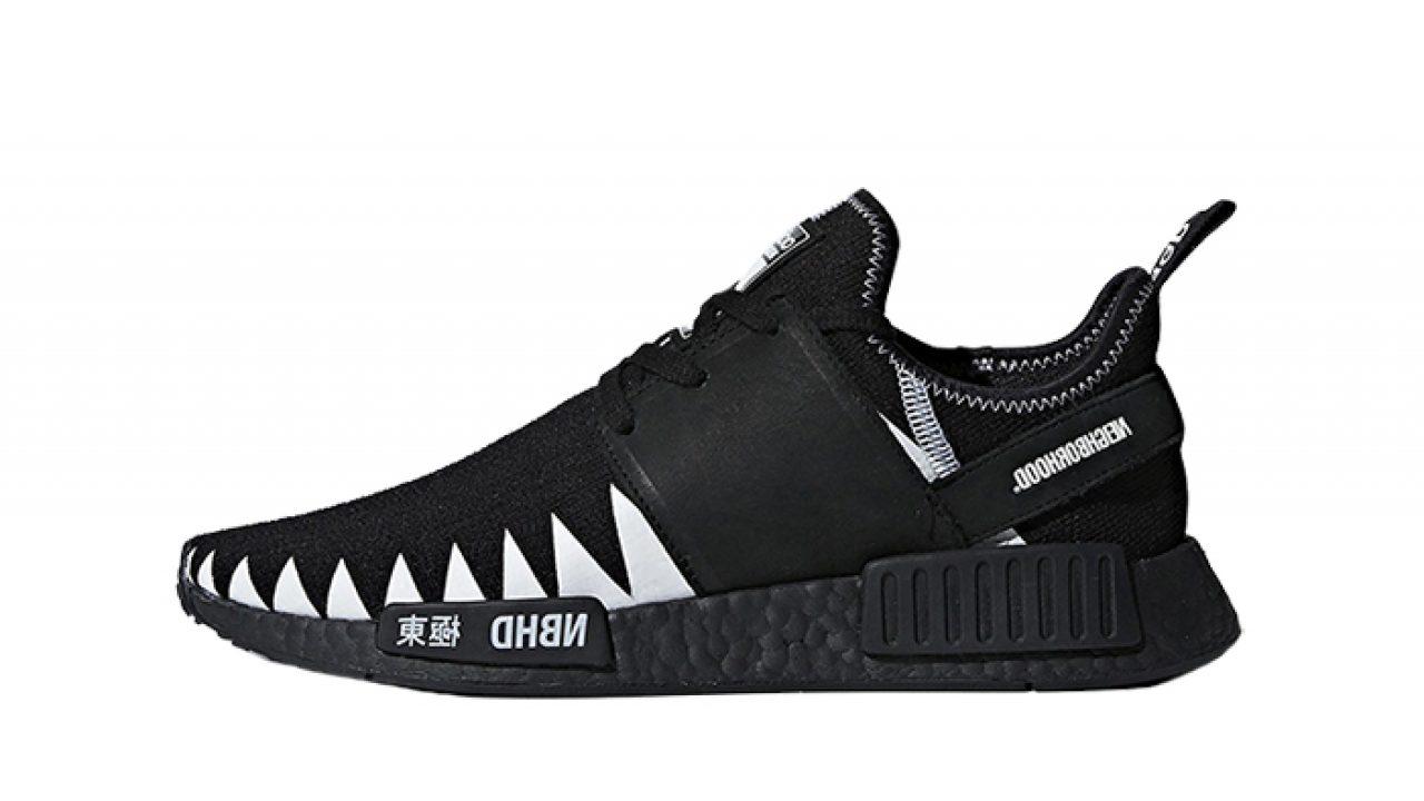 check out 5f14e 46ec4 Neighborhood x adidas NMD R1 Black DA8835