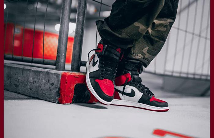 Retro High 610 Bred Air Og Jordan Toe 555088 Nike 1 54qj3LRA