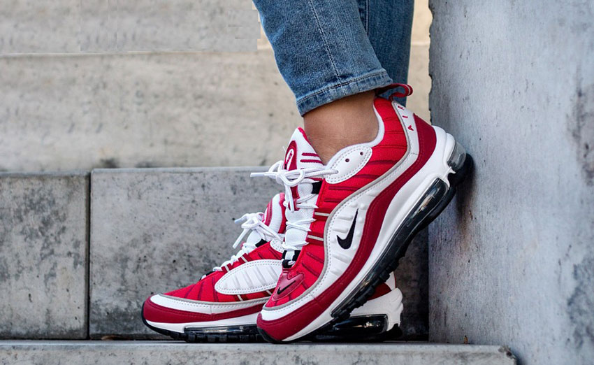 394e92ad3f Nike Air Max 98 Gym Red is a straight ride back to the olden days with the  vintage design and OG colourway. It will quench your thirst for classic and  old ...
