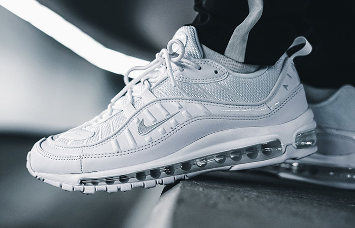 Nike Air Max 98 Triple White 640744-106 Buy New Sneakers Trainers FOR Man Women in United Kingdom UK Europe EU Germany DE FastSole 01