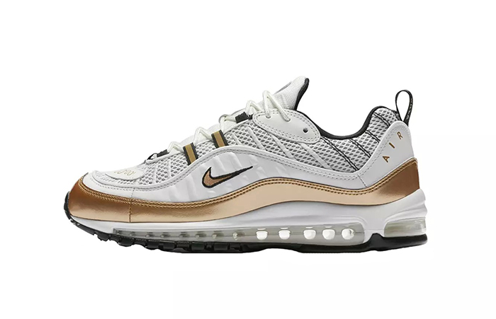 518026b733 Nike Air Max 98 UK GMT Pack White Gold AJ6302-100 – Fastsole
