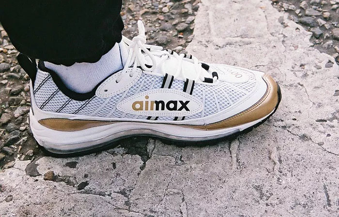b36d5802c8 ... Nike Air Max 98 UK GMT Pack White Gold AJ6302-100 02 ...