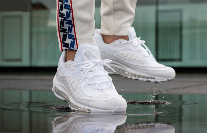 Nike Air Max 98 Triple White 640744-106 Buy New Sneakers Trainers FOR Man Women in United Kingdom UK Europe EU Germany DE 03