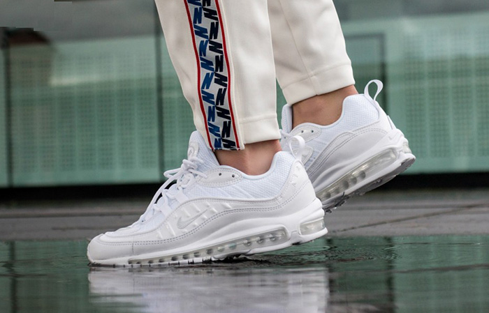 Nike Air Max 98 Triple White 640744-106 Buy New Sneakers Trainers FOR Man Women in United Kingdom UK Europe EU Germany DE 02