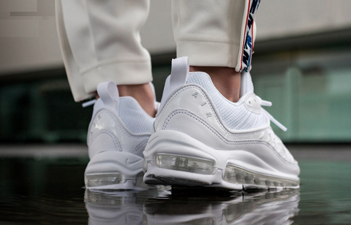 Nike Air Max 98 Triple White 640744-106 Buy New Sneakers Trainers FOR Man Women in United Kingdom UK Europe EU Germany DE 01