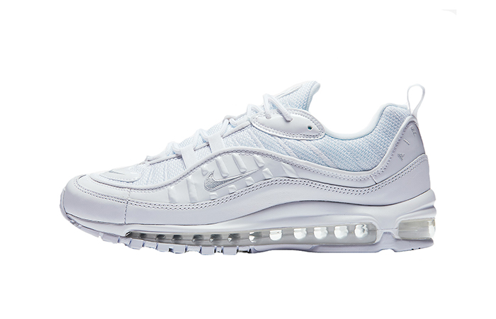 Nike Air Max 98 Triple White 640744-106 Buy New Sneakers Trainers FOR Man Women in United Kingdom UK Europe EU Germany DE 04