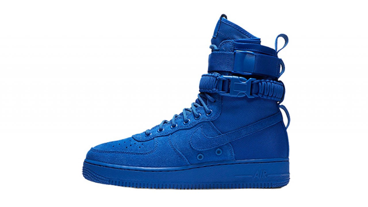 bb2fae57cd240 Nike SF Air Force 1 Blue Suede 864024-401 – Fastsole
