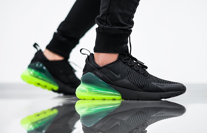 Nike Air Max 270 Black And Neon Green New Style