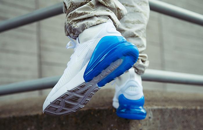 Nike Air Max 270 White Blue | AH8050 105