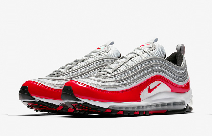low priced 0d076 3e8b0 Nike Air Max 97 Grey Red 921826-009