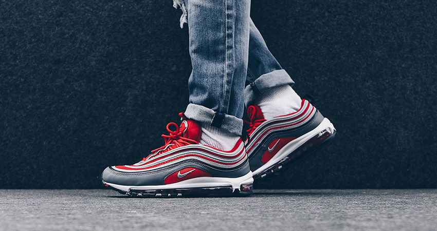 On Foot Look At The Nike Air Max 97 Red Grey – Fastsole