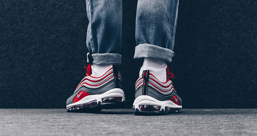 On Foot Look At The Nike Air Max 97 Red Grey Fastsole