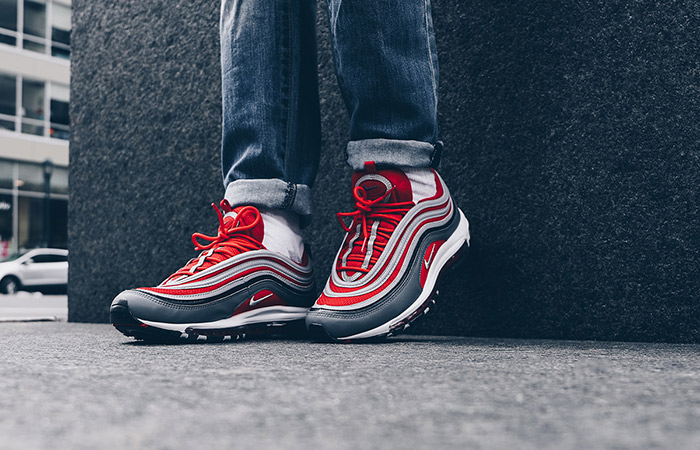 Correspondiente a estudiar comunidad  On Foot Look At The Nike Air Max 97 Red Grey – Fastsole