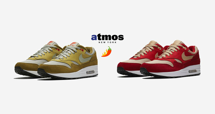 check out f7a75 468ae Curry Themed atmos x Nike Air Max 1 Pack Is On The Way 01