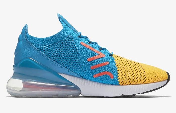 2c489e0768b1 Nike Air Max 270 Flyknit Yellow Blue AO1023-800 – Fastsole