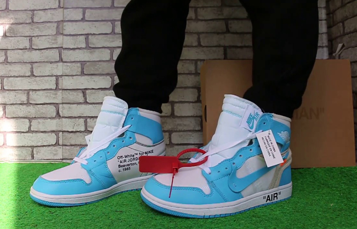 brand new e01f8 193e8 Off-White x Jordan 1 UNC Blue AQ0818-148