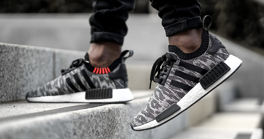 hot sale online ec821 a4a5a On Foot Look At The adidas NMD R1 PK Grey – Fastsole