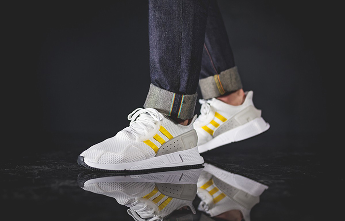 sneakers for cheap 23b19 34c37 adidas EQT Cushion ADV White Yellow CQ2375