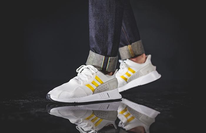 sneakers for cheap f2365 b6011 adidas EQT Cushion ADV White Yellow CQ2375