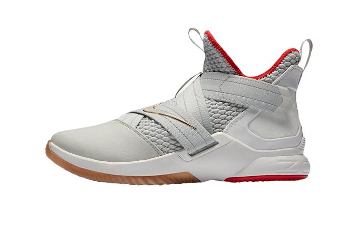 66c894857012 Nike LeBron Sodier 12 Light Bone AO2609-002 01
