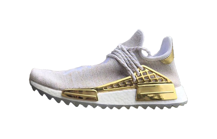 new concept 5d0ab c95bb Pharrell adidas NMD Hu China Exclusive Happy Gold F99762