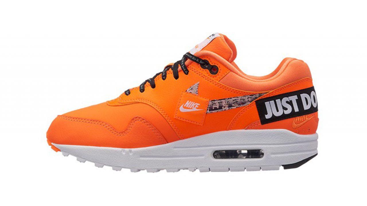 5c1ec731ad507 Nike Air Max 1 Just Do It Orange Womens 917691-800 – Fastsole