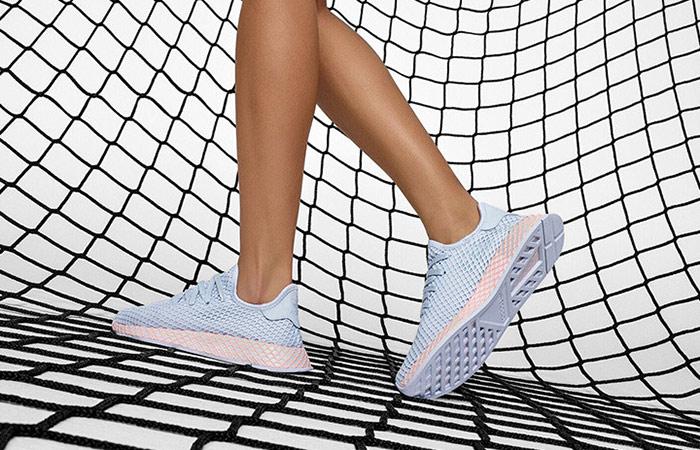 ca8f94315406b adidas Deerupt Blue Womens B37878