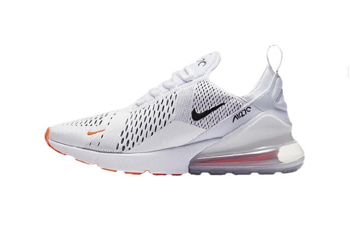 Nike Air Max 270 White Black Orange AH8050 106