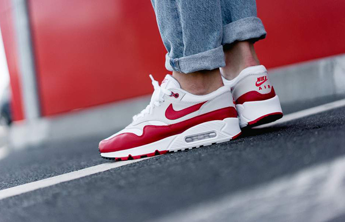 Nike Air Max 901 White Red Womens AQ1273 100