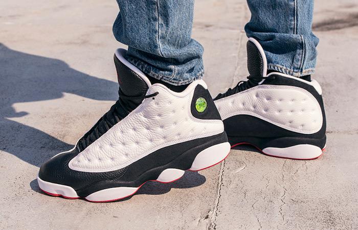 sale retailer 3876e 55dbc ... Air Jordan 13 He Game White Black 414571-104 ...