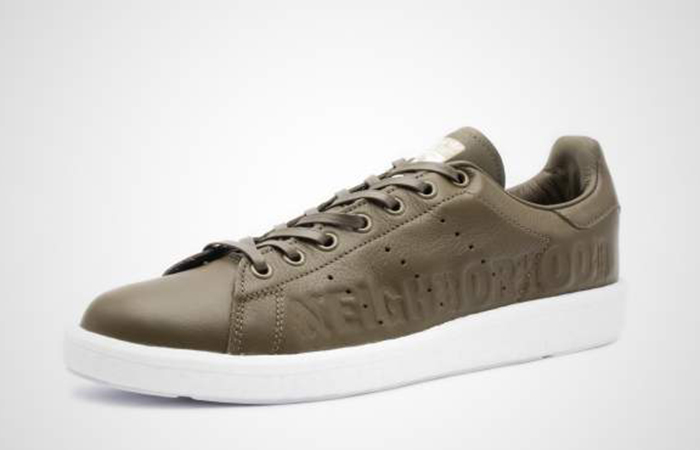 separation shoes f2ab5 5546d Neighborhood adidas Stan Smith Olive B37342