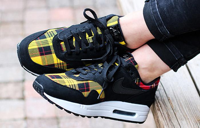 Nike Air Max 1 SE Plaid Tartan Black