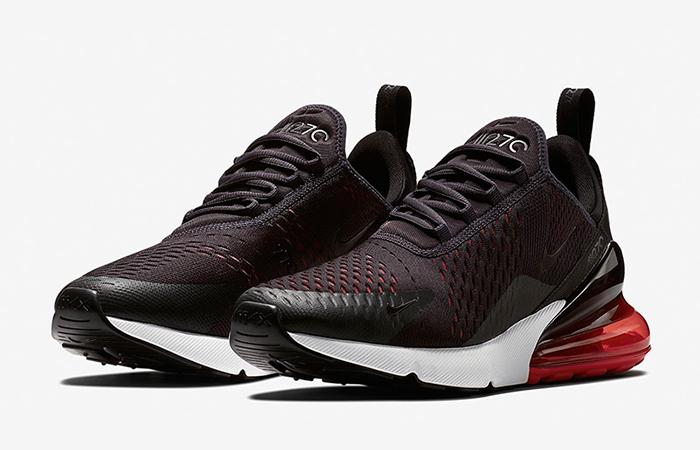 Nike Air Max 270 Shoes Black Red AH8050 013