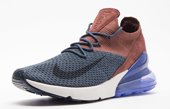 best service 992df ef724 Nike Air Max 270 Flyknit Blue Red Multi AO1023-402