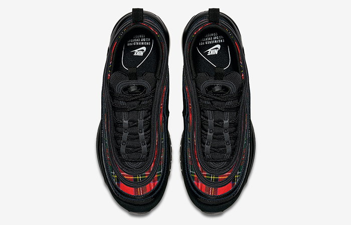 2bccdaf508 Nike Air Max 97 SE Plaid Tartan Black Red Womens AV8220-001 – Fastsole