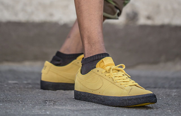 9173769e4210 Nike SB Zoom Blazer Low Yellow Ochre 864347-701 – Fastsole