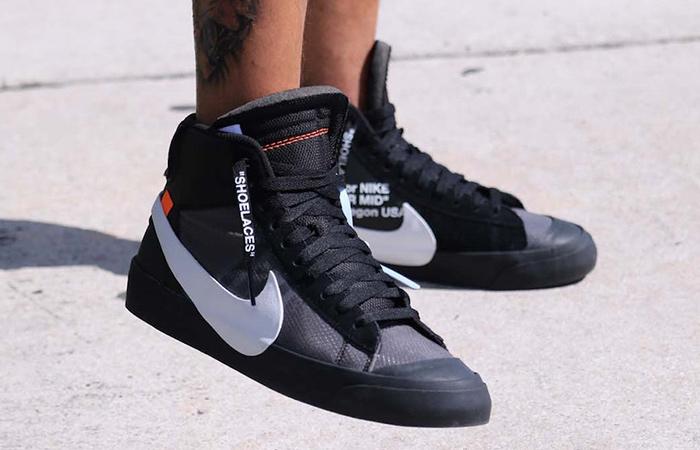 size 40 15b68 da3e3 Off-White x Nike Blazer Studio Mid All Black AA3832-001