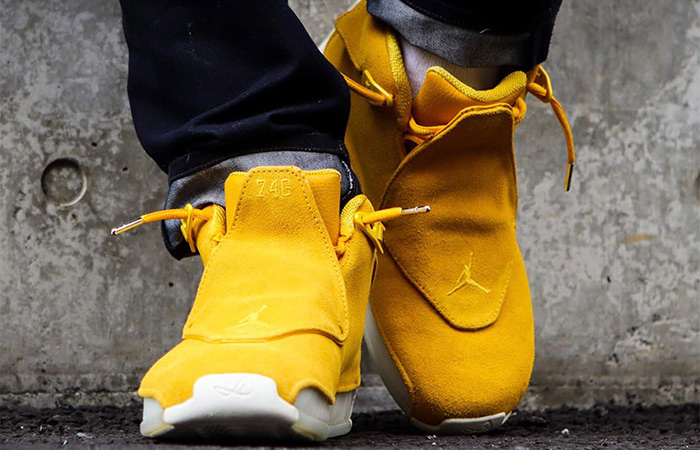jordan 18 yellow on feet off 57% - www