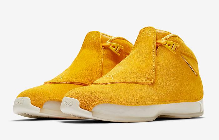 b4cf1d8bbb4 ... Air Jordan 18 Yellow Suede AA2494-701 03 ...