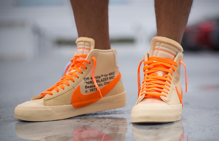284759863e5ed Off-White Nike Blazer Mid Canvas Orange AA3832-700 – Fastsole