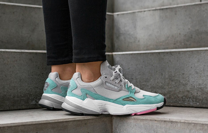 new styles a089e a3703 adidas Falcon Grey Green Womens B28127 – Fastsole adidas falcon green