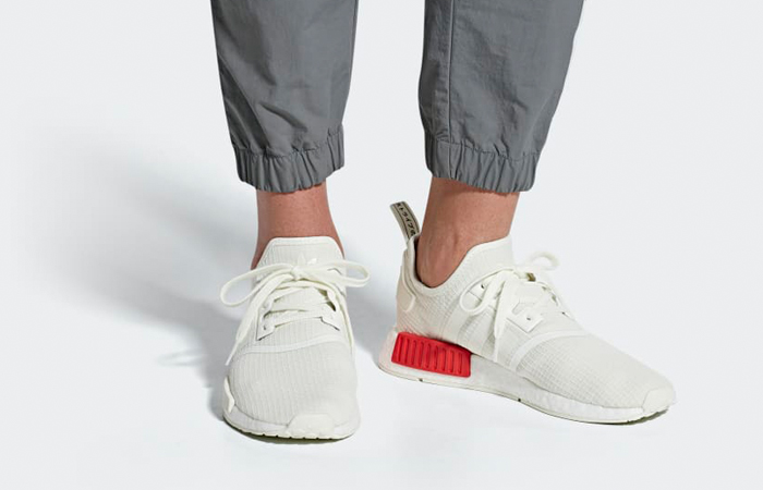 Reduction - adidas nmd r1 white and red