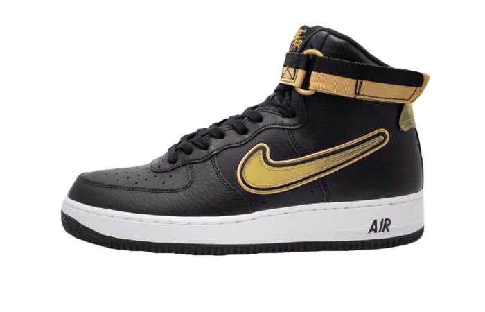 Nike Air Force 1 High 07 LV8 Sport Black Metallic Gold AV3938,001