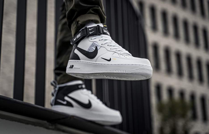 Nike Air Force 1 Mid 07 LV8 Utility White Black Shoes 804609 103