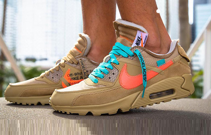 Off-White Nike Air Max 90 Desert Ore AA7293-200 02