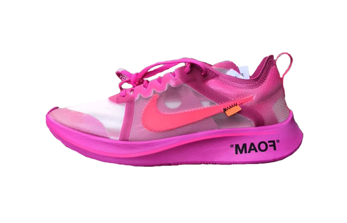 Off White x Nike Zoom Fly SP Pink